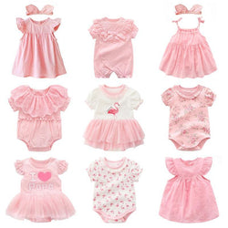 Baby In Pink Romper Outfit - tinyjumps