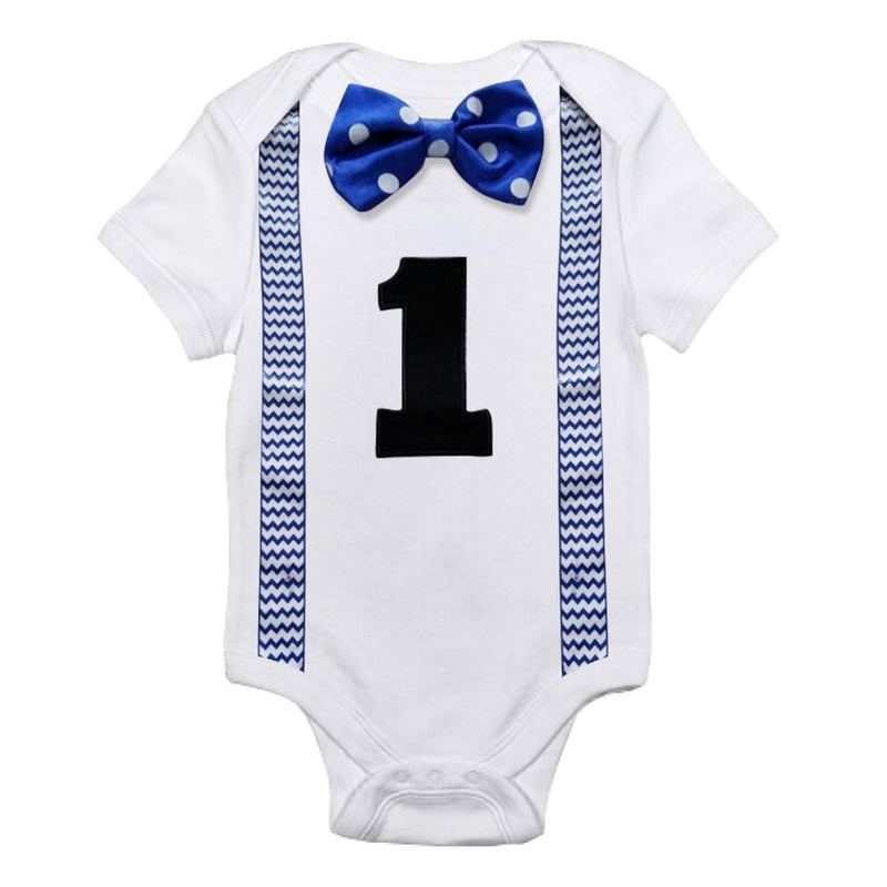 First Birthday Baby Boy Romper - tinyjumps