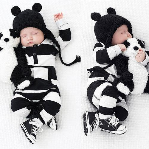 Striped Print Baby Jumpsuit - tinyjumps