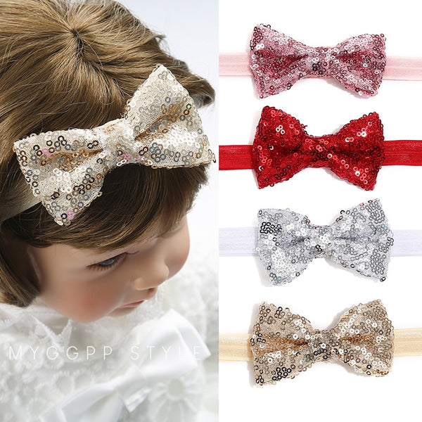 Sequins Bow Headband - tinyjumps