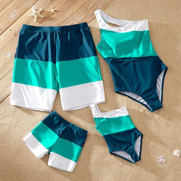 Multi shade Family Swimsuits - tinyjumps