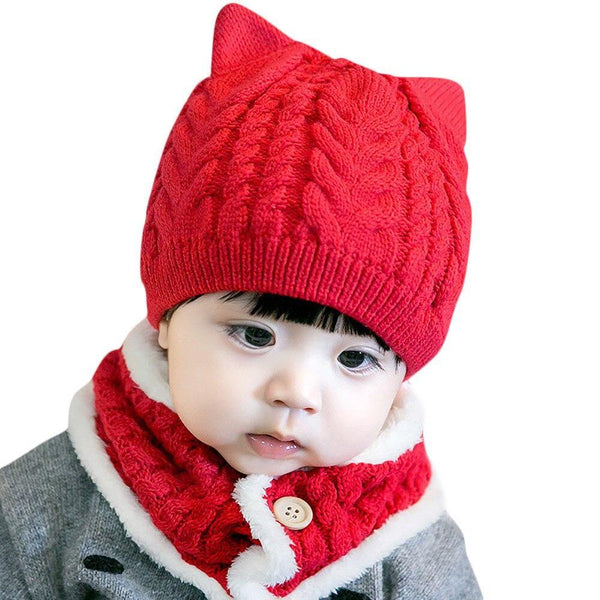 Cat Knitted 2 in 1 Hat set - tinyjumps