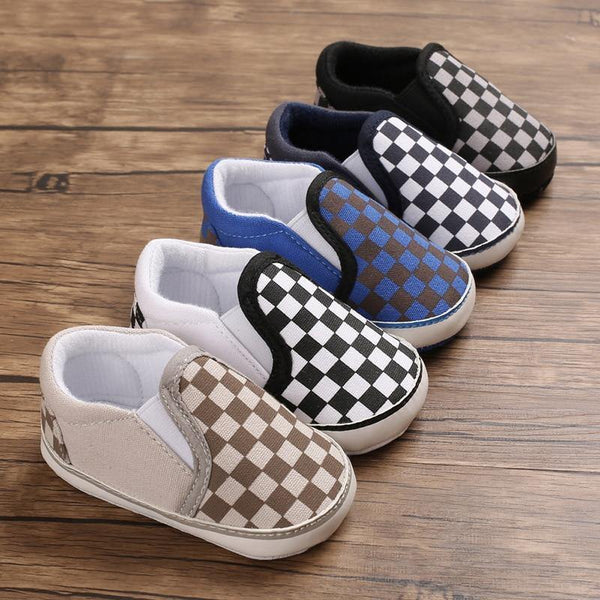 Checkered Baby Shoes - tinyjumps