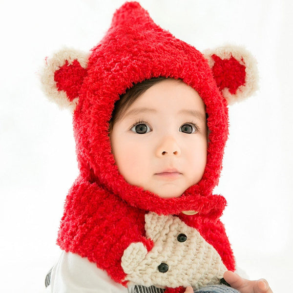 Toddler's Woolen Cap and Scarf Set - tinyjumps
