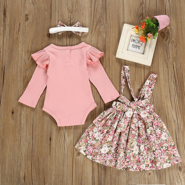 Floral Romper Outfit - tinyjumps