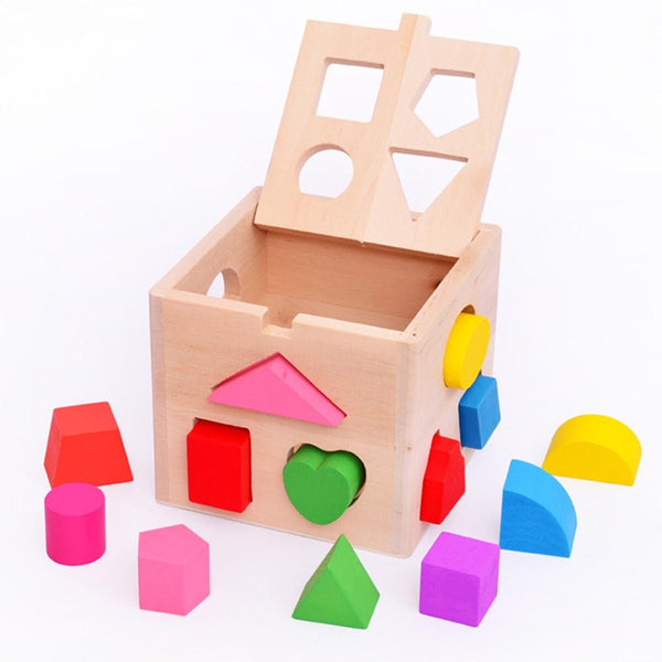 Shape Classifying Wooden Cube - tinyjumps