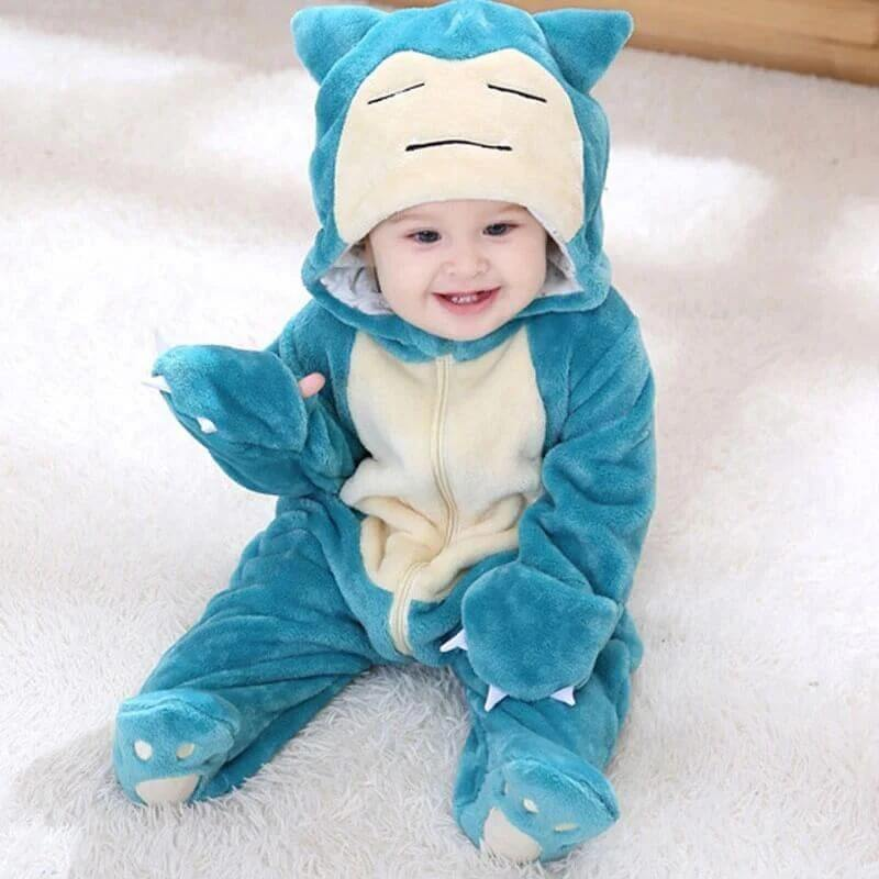 Blue Snorlax Baby Jumpsuit - tinyjumps