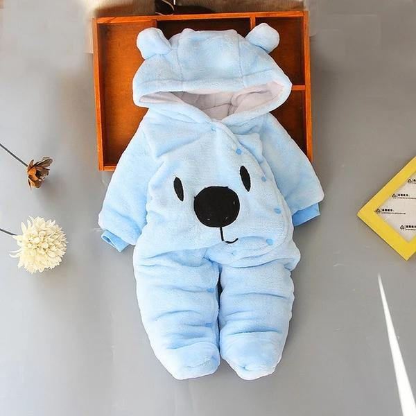 Snuggly Bear Hooded Onesie - tinyjumps