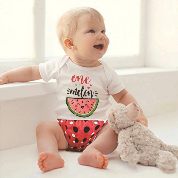 """ONE IN A MELON"" Romper - tinyjumps"
