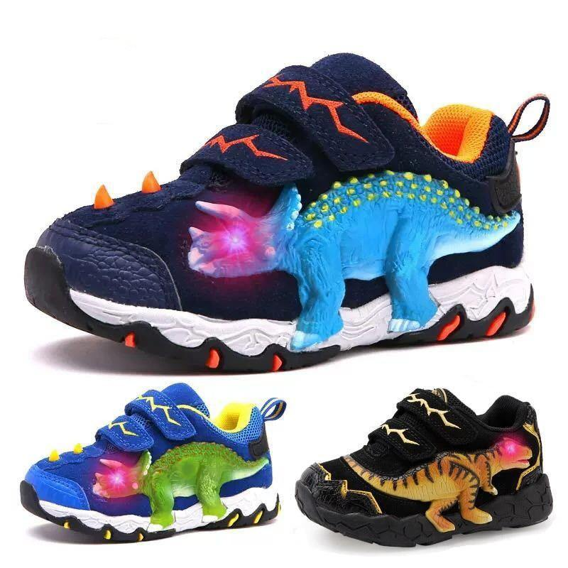 LED Dinosaur Running Shoes - tinyjumps
