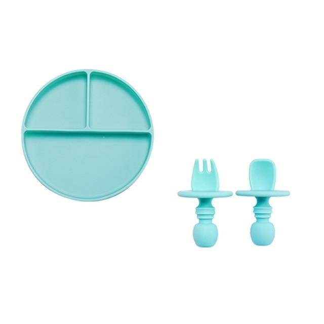 Baby Silicone Dining Plate BPA - tinyjumps