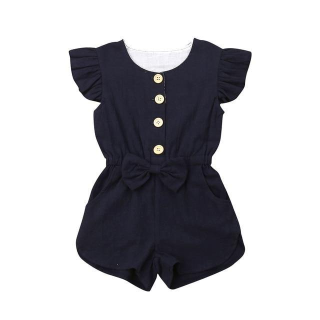 Ruffled Sleeves Button Jumpsuit - tinyjumps