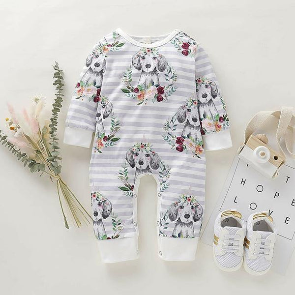 Flower Crown Colorful Jumpsuit - tinyjumps