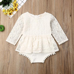 Cotton Lace Romper - tinyjumps