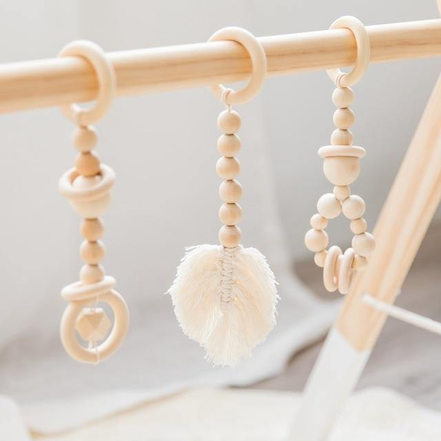 Let's Make Baby Gym Wood Crochet Star Bell - tinyjumps