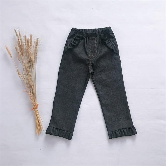 Kids Bootcut Leather Leggings - tinyjumps