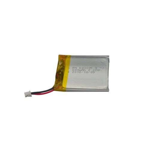 600mAh 3.7V battery  5.63mm thin
