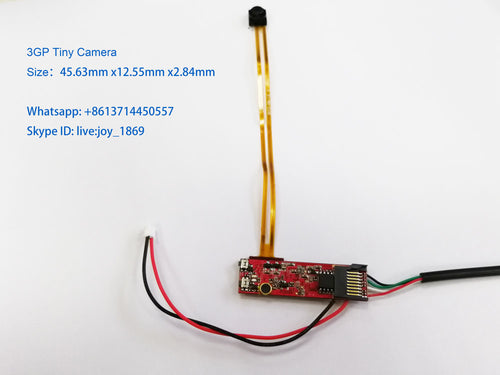 3GP Hidden Spy Camera Module PCBA Smallest Camera with long time recording