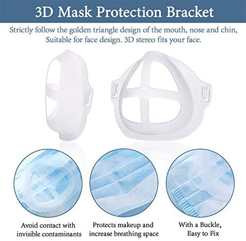 Image of 3D Mask Bracket - Nasal Mask Pad - to create more breathing space when a mask is put on a face.