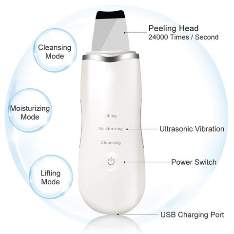 Image of Professional Skin Scrubber, Blackhead Remover for Deep Clean Exfoliation and Anti-Aging