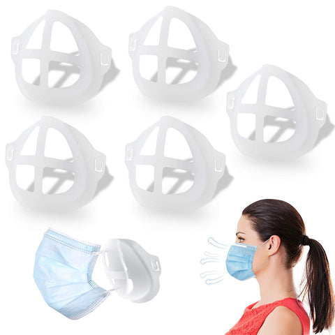 3D Mask Bracket - Nasal Mask Pad - to create more breathing space when a mask is put on a face.
