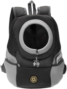 Pet Backpack Carrier Adjustable, Padded Shoulder Straps, Durable Mesh Breathable Hands-Free