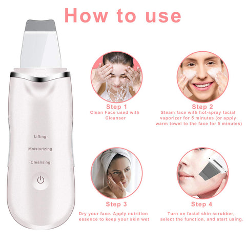 Professional Skin Scrubber, Blackhead Remover for Deep Clean Exfoliation and Anti-Aging