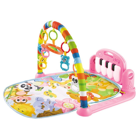 Image of Baby Play Mat with Piano Keyboard and Cute Animal Playmate
