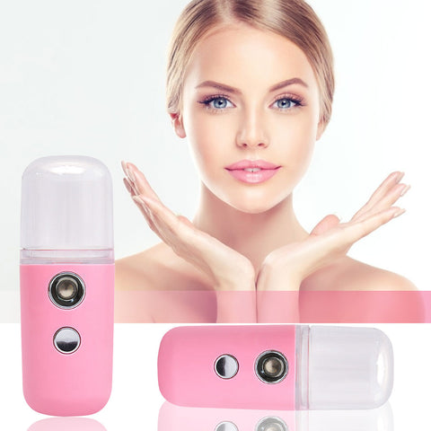 Mini Nano Face Mist Sprayer, Handy Moisturizing Mist Sprayer for Home, Office, Outdoor Facial Hydrating
