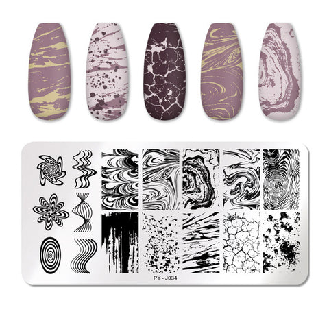 Nail Art Stamping Plates Kit- Manicuring Plates, and Illusions Stamp Templates Set by Salon Designs