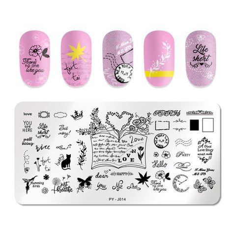 Image of Nail Art Stamping Plates Kit- Manicuring Plates, and Illusions Stamp Templates Set by Salon Designs