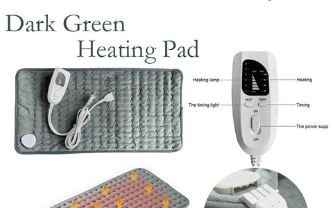 Image of Electric Heating Pad for Pain Relief in Neck, Shoulder, Back, Knee & Muscle.
