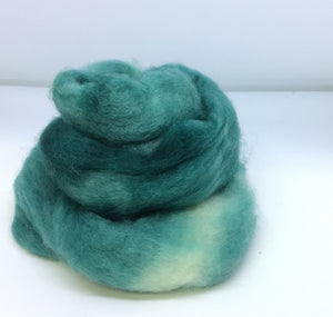 Top - Hand Dyed BFL Top - one ounce - Teal