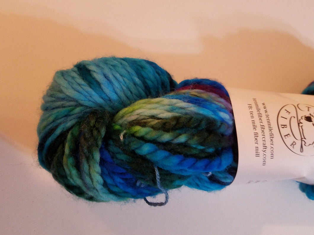 Bulky Weight Superfine Superwash Merino Yarn - Aurora Borealis