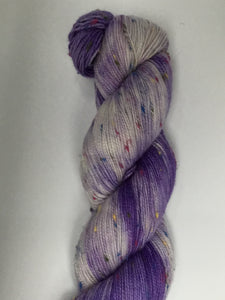 Sock Weight Superwash Merino / Donegal Nep Yarn - Iris