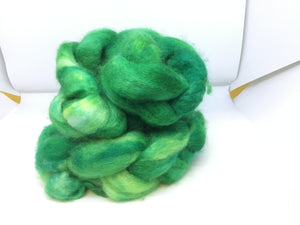 Top- Hand Dyed BFL / Silk Top - four ounce - St. Paddy's Parade