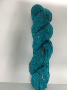 Sock Weight Superwash Merino / Donegal Nep Yarn - Turquoise