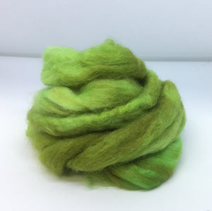 Top - Hand Dyed BFL Top - one ounce - Luck o the Irish
