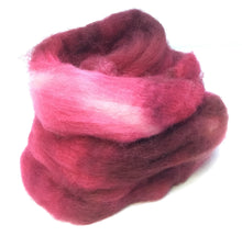 Load image into Gallery viewer, Top - Hand Dyed BFL Top - one ounce - Rose in Bloom