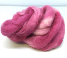 Load image into Gallery viewer, Top - Hand Dyed BFL Top - one ounce - Plum Loco