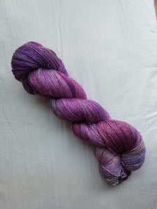 Lace Weight BFL Silk Yarn - French Lilac