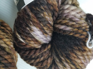 Bulky Weight Superfine Superwash Merino Yarn - Chocolate and Cream
