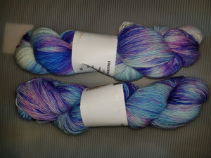Fingering Weight Superfine Single Superwash Merino Yarn - Light Blue Hydrangea