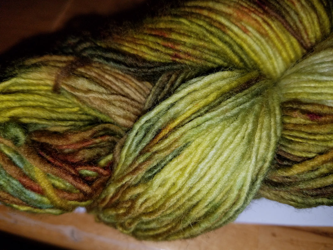 Fingering Weight Superfine Single Superwash Merino Yarn - Olive Bar