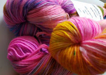 Load image into Gallery viewer, Fingering Weight Superfine Single Superwash Merino Yarn - Birds of Paradise