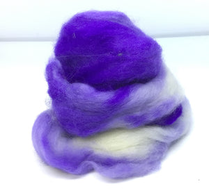 Top - Hand Dyed BFL Top - one ounce - Royal Dynasty