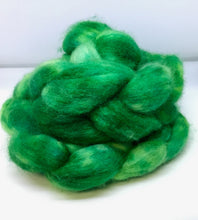 Load image into Gallery viewer, Top- Hand Dyed BFL / Silk Top - four ounce - St. Paddy's Parade