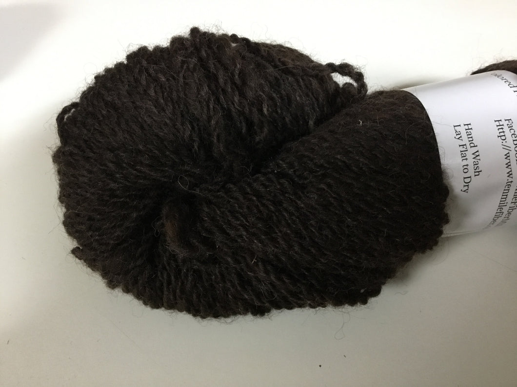 Bulky Weight Romney Yarn - Bittersweet Chocolate