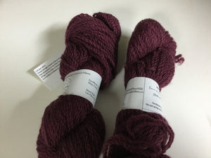 Bulky Weight Romney Yarn - Port Wine