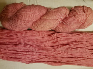 Fingering Weight Superfine Single Superwash Merino Yarn - Naturally Dyed Pale Pink